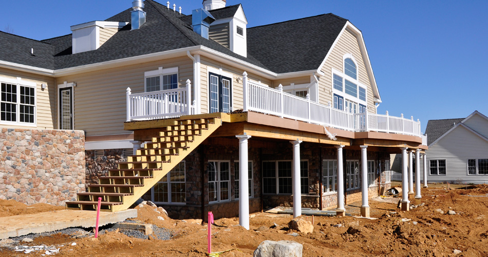 House in Mid-Construction for New Construction Inspection